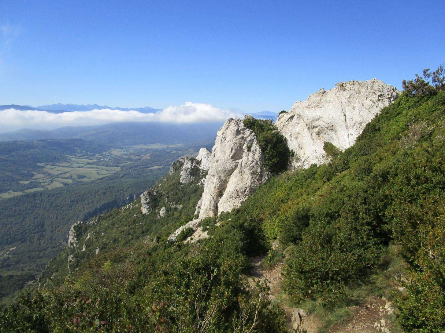 Vue depuis le Pech de Bugarach ©D. Cosperec-Villemarcheurs