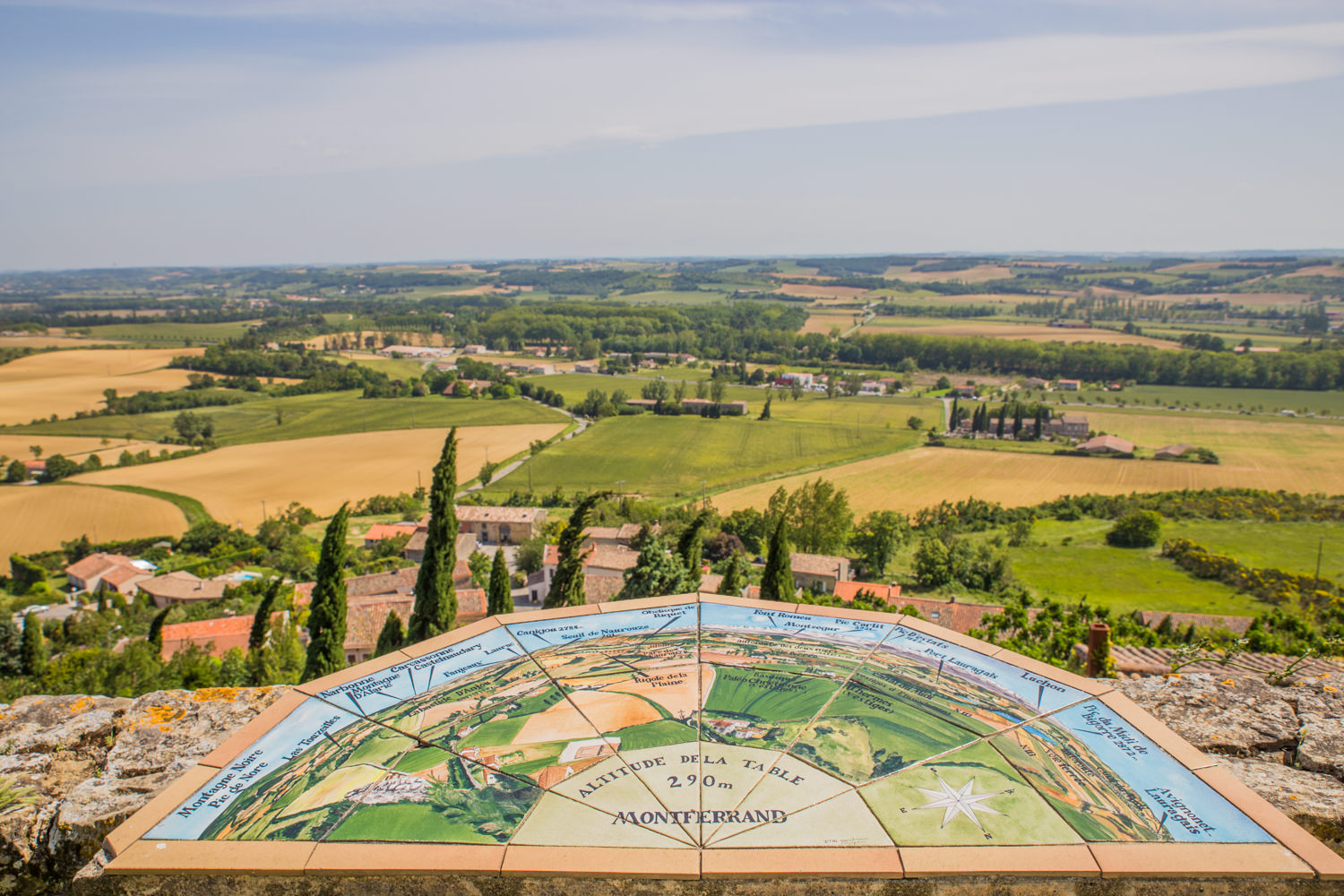 Table d'orientation à Montferrand, Lauragais, ©Office de Tourisme de Castelnaudary