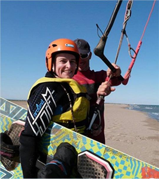 Kitesurf en tandem dans l'Aude