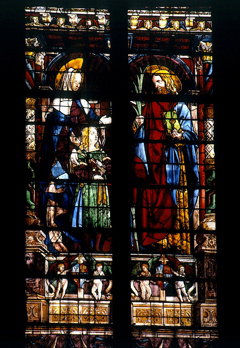 carcassonne, vitrail basilique Saint Nazaire