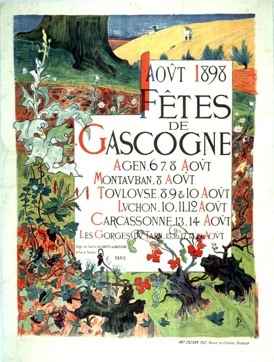 Août 1898, Fêtes de Gascogne, Premeir embrasement de la Cité de Carcassonne