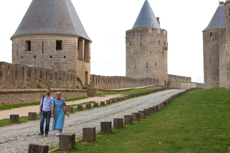 Balade en couple à la Cité de Carcassonne ©Philippe Benoist-ADT de l'Aude