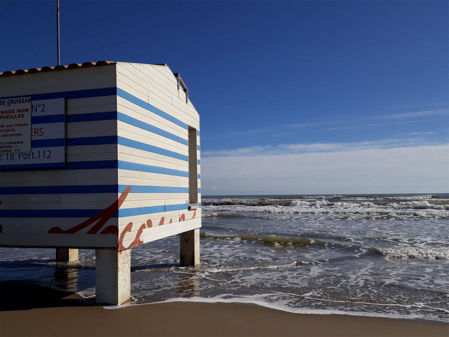 La plage des chalets à Gruissan ©ADT de l'Aude