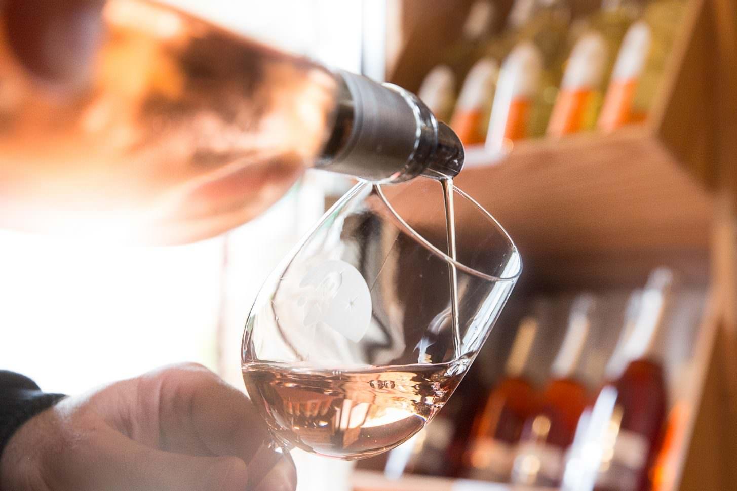 Narbonne, caveau de fontfroide, vin rosé