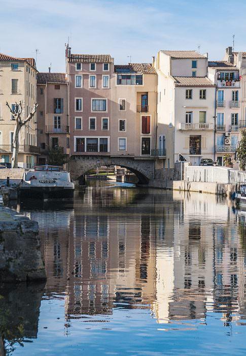 Narbonne, canal de la robine, pont des marchands