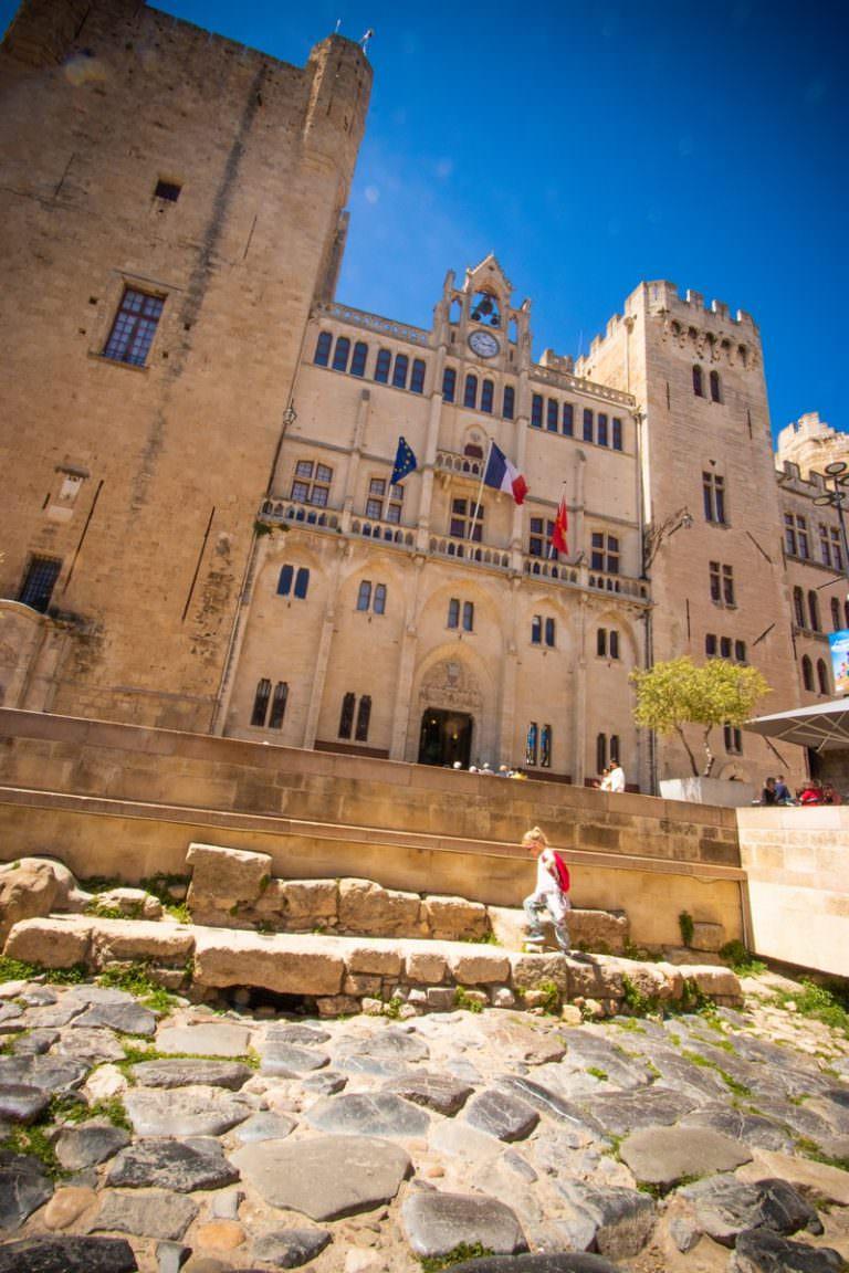 Narbonne, palais des archevêques et via domitia