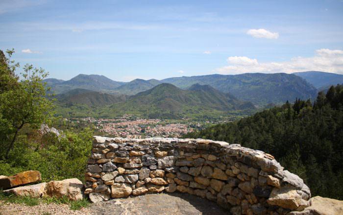 Quillan, vue du chateau