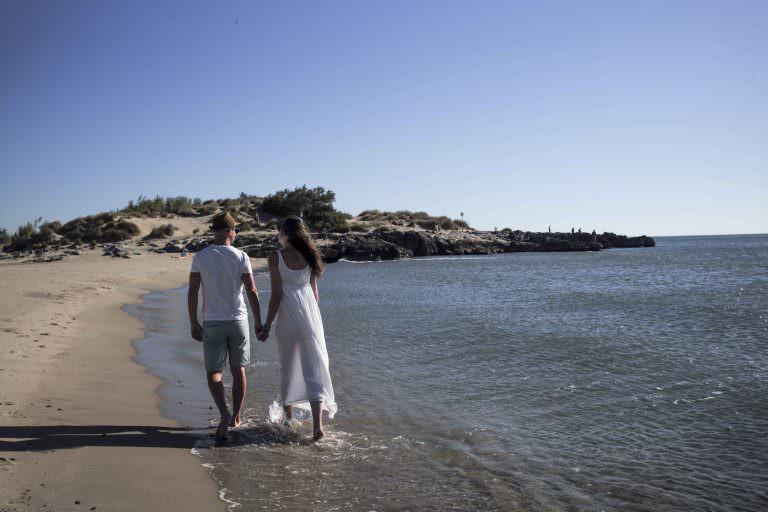 Saint Pierre la mer, balade, couple