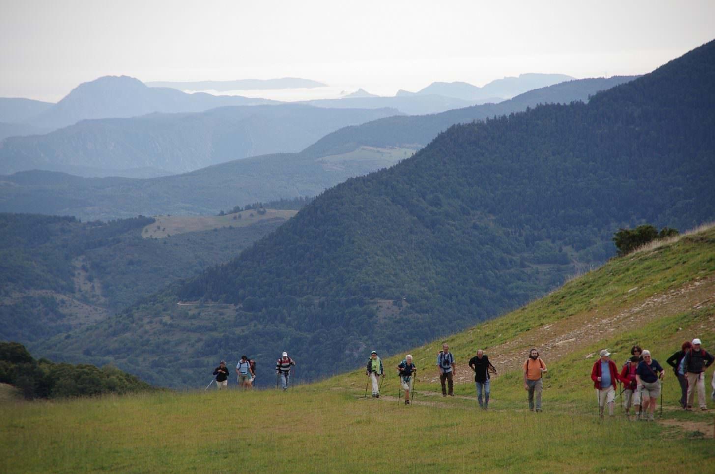 Randonneur, montagne Pyrénées Audoises