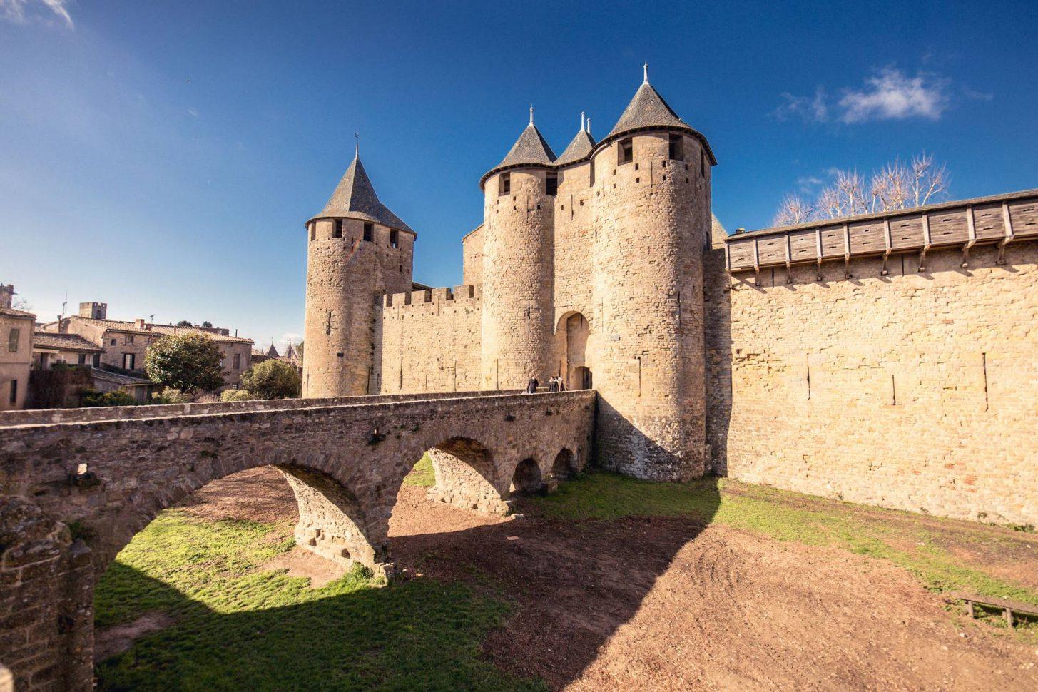 Entrée du Château comtal à Carcassonne ©Vincent Photographie
