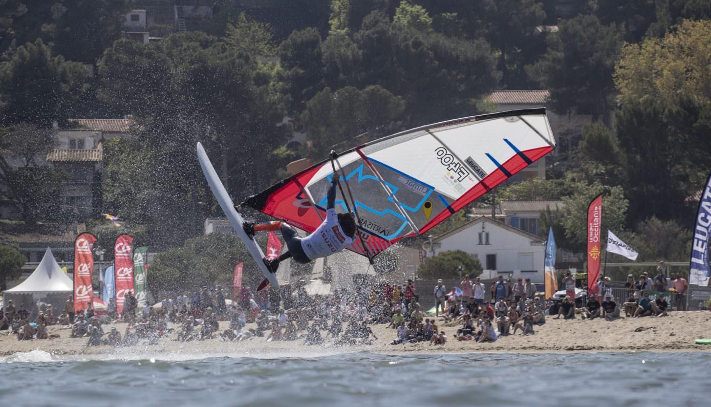 Mondial du vent à Leucate, windsurf ©P Bouras-Office de Tourisme de Leucate