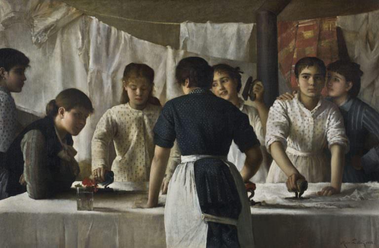 Musée Petiet àLimoux, les blanchisseuses