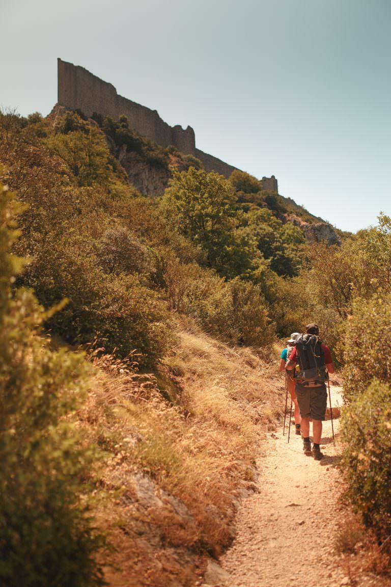 le Sentier Cathare au château de Peyrepertuse