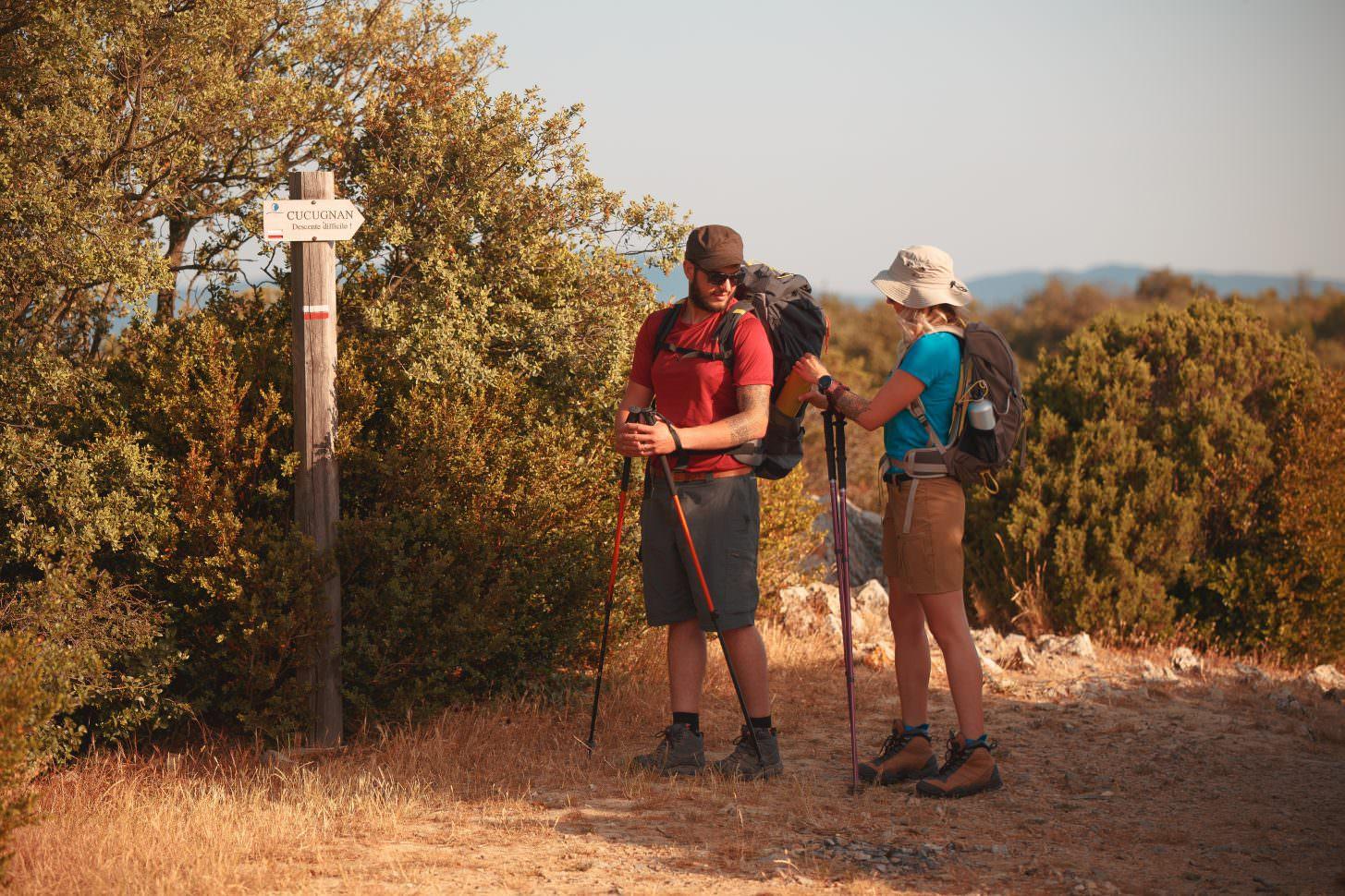 fléchage du Sentier Cathare