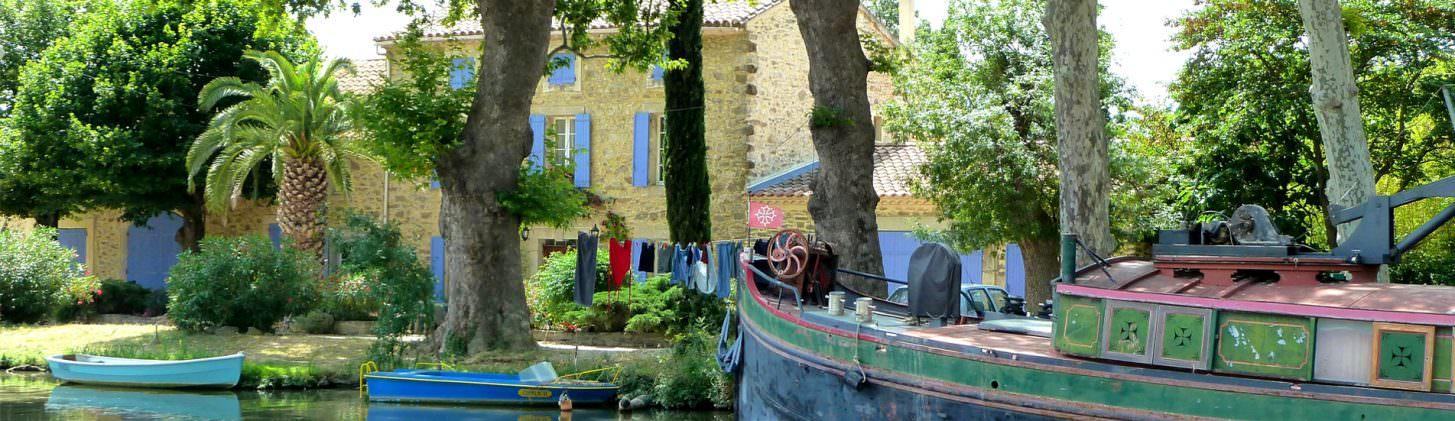 """Hébergements """"les pieds dans l'eau"""" de l'Aude"""