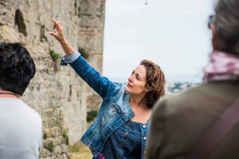 Antonella Grieco, Guide Conférencière Pays Cathare, visite de la Cité