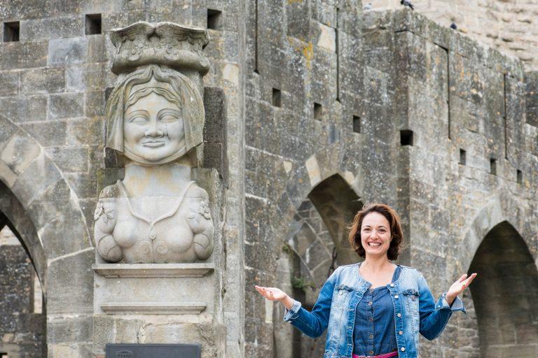 Portrait Antonella grieco / Guide conférencière à la cité de Carcassonne