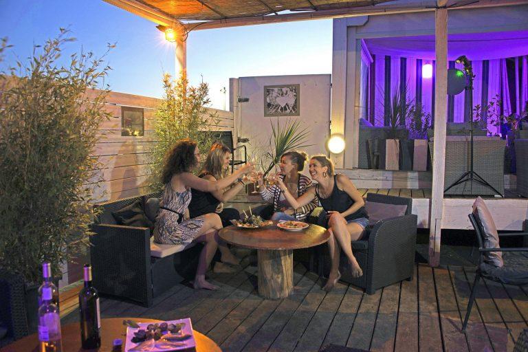 Restaurant de plage à Gruissan