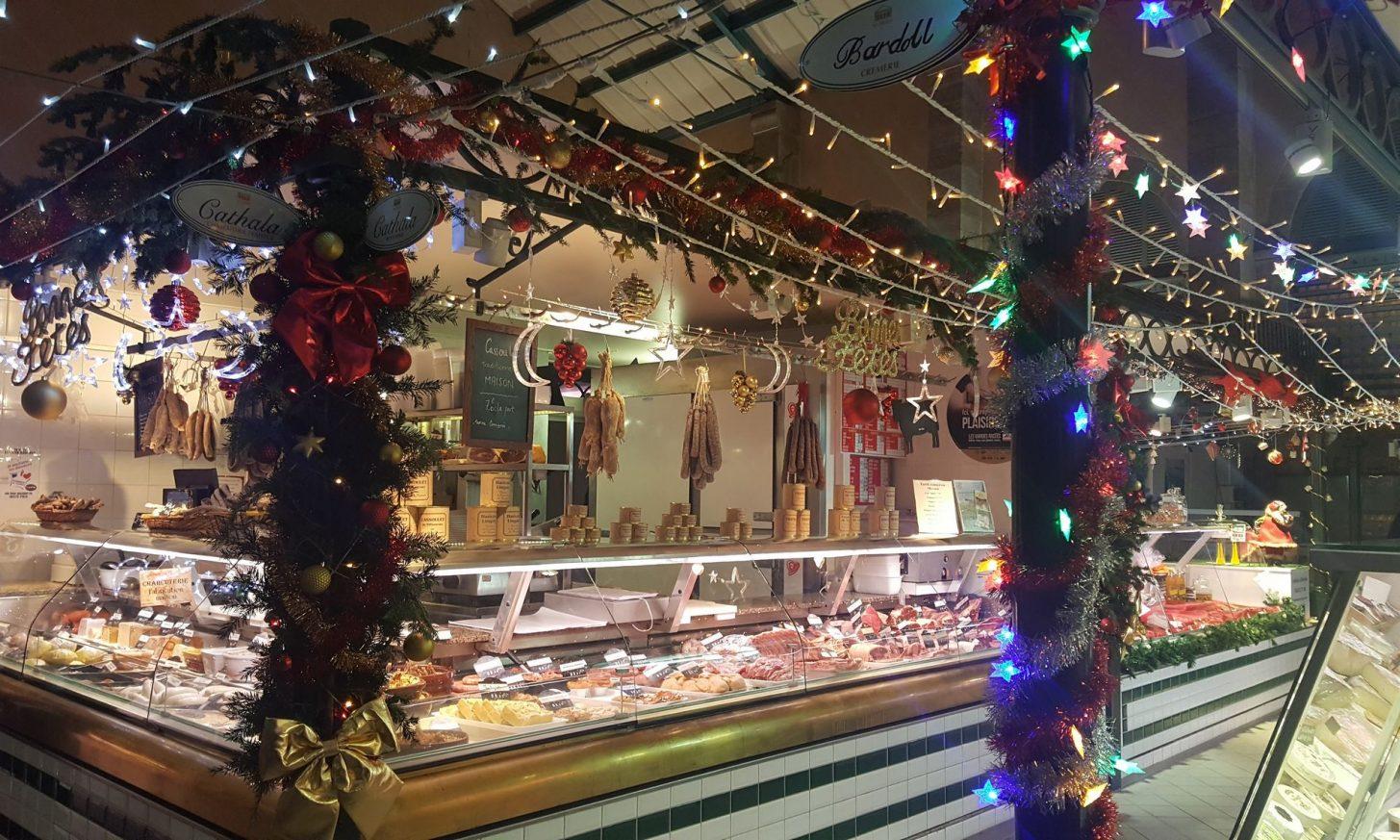 Les Halles Prosper Montagné à Carcassonne, pour les fêtes de Noël