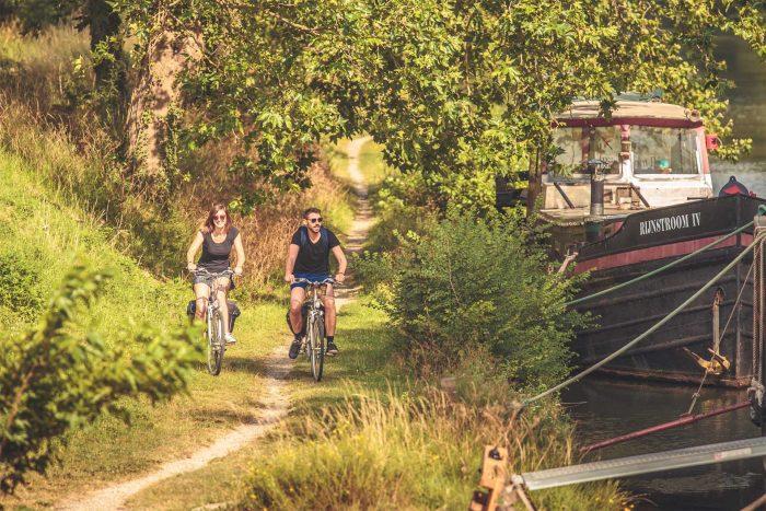 Le Canal du Midi à vélo ©Vincent Photographie-ADT de l'AudeLe Canal du Midi à vélo ©Vincent Photographie-ADT de l'Aude