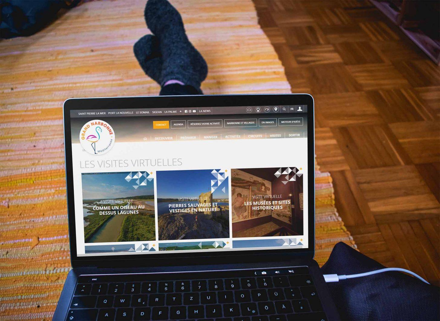 Visites virtuelles de la Narbonnaise depuis son canapé