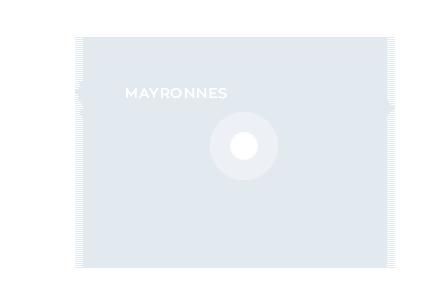 Carte de localisation, sentier de Mayronnes