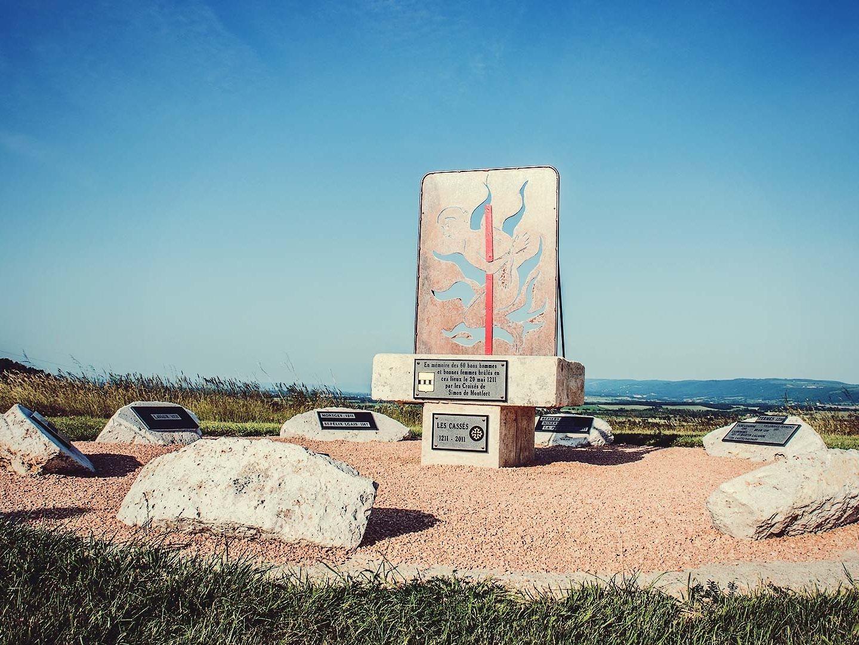 Le mémorial des cathares, Les Casses©Olivier Alvéar, Office de Tourisme de Castelnauday Lauragais