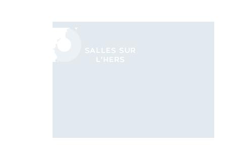 Carte de localisation de la commune de Salles-sur-L'Hers