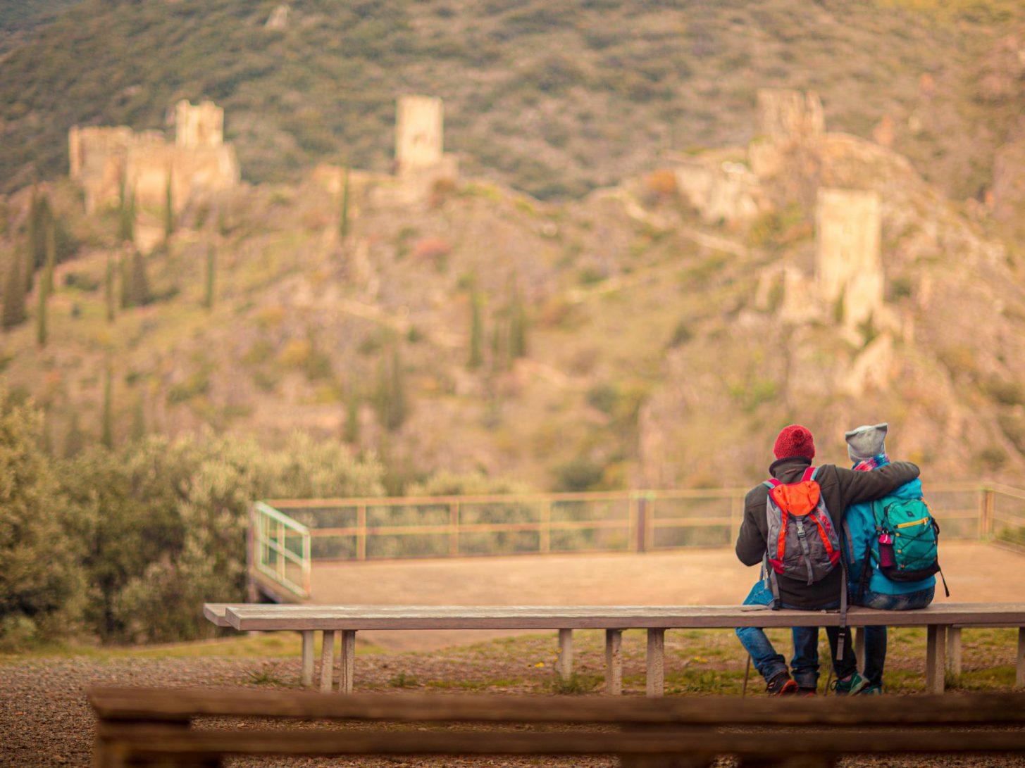 Les châteaux de Lastours depuis le belvédère ©Vincent Photographie, ADT de l'Aude
