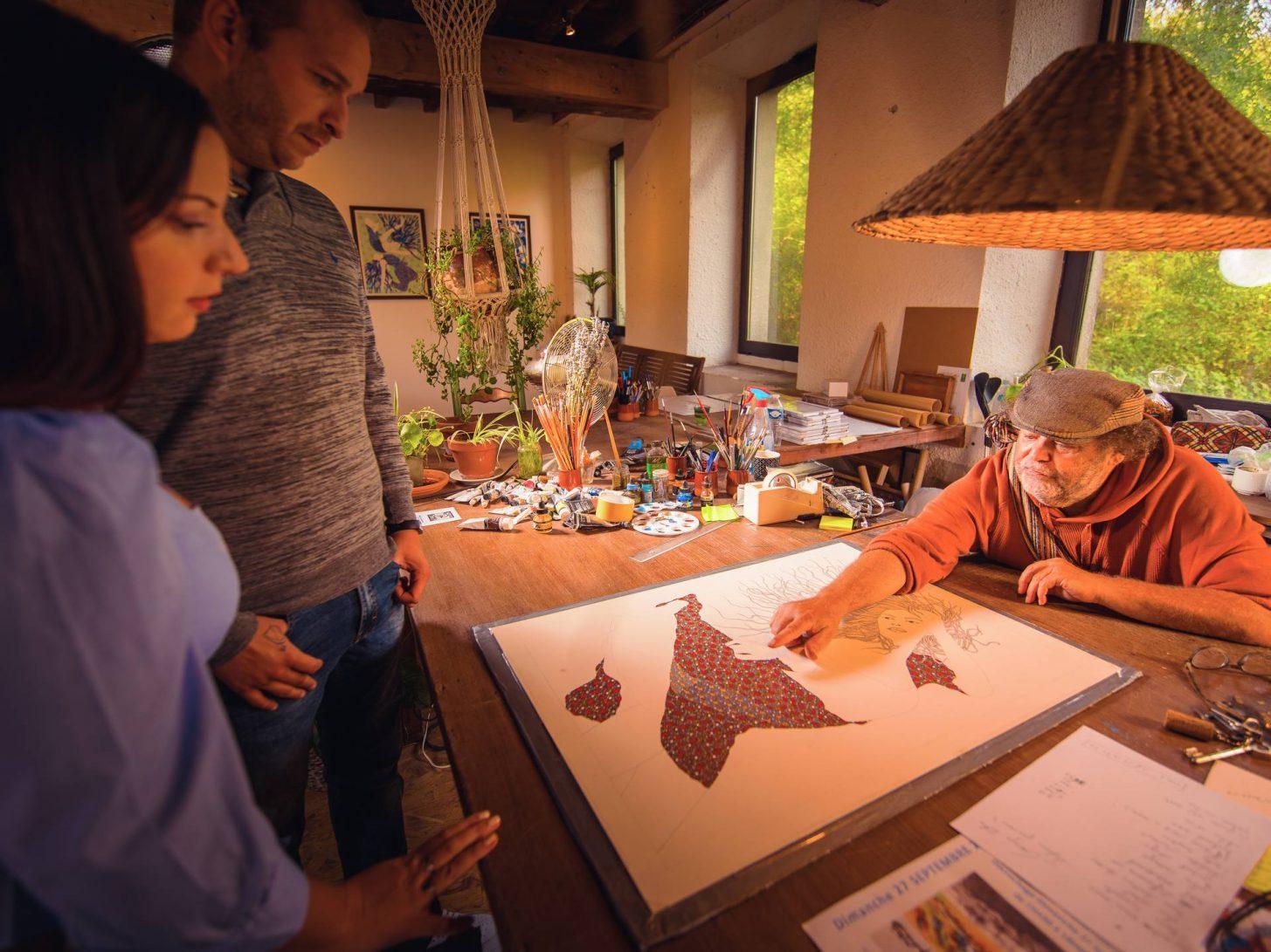 Atelier d'artiste à Montolieu © Vincent Photographie, ADT de l'Aude