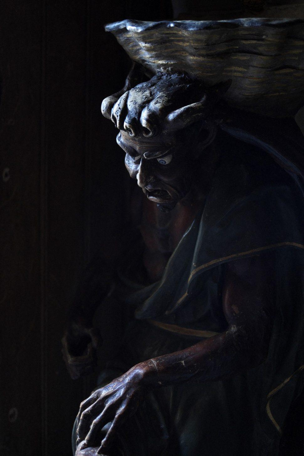 le diable dans l'église de Rennes le Château ©Sandra Fastre, ADT de l'Aude