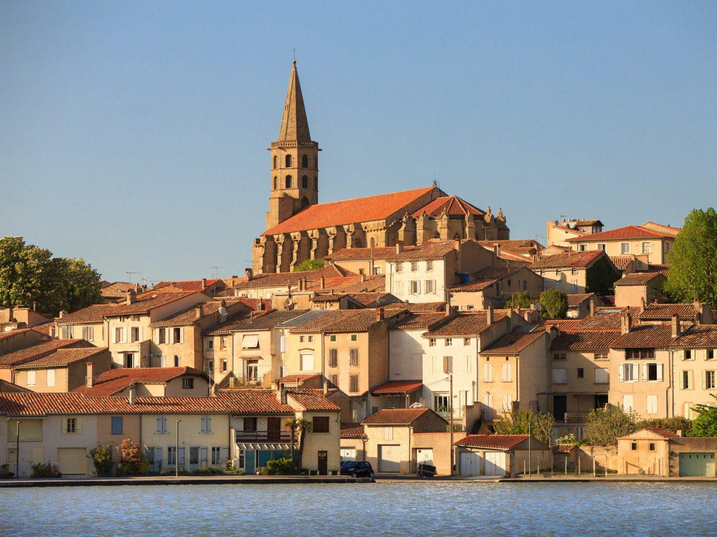 Le Grand bassin sur le canal du Midi à Castelnaudary © Vincent Photographie, ADT de l'Aude