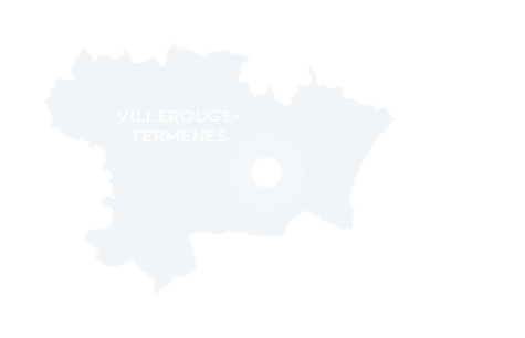 Carte de localisation de Villerouge-Termenès dans l'Aude