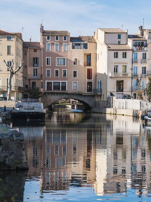 Pont des marchands à Narbonne, canal de la Robine © E. de Puy, ADT de l'Aude
