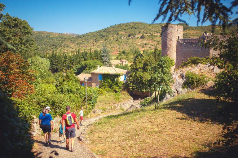 Visite en famille du château de Villerouge Terménes © Vincent Photographie, ADT de l'Aude