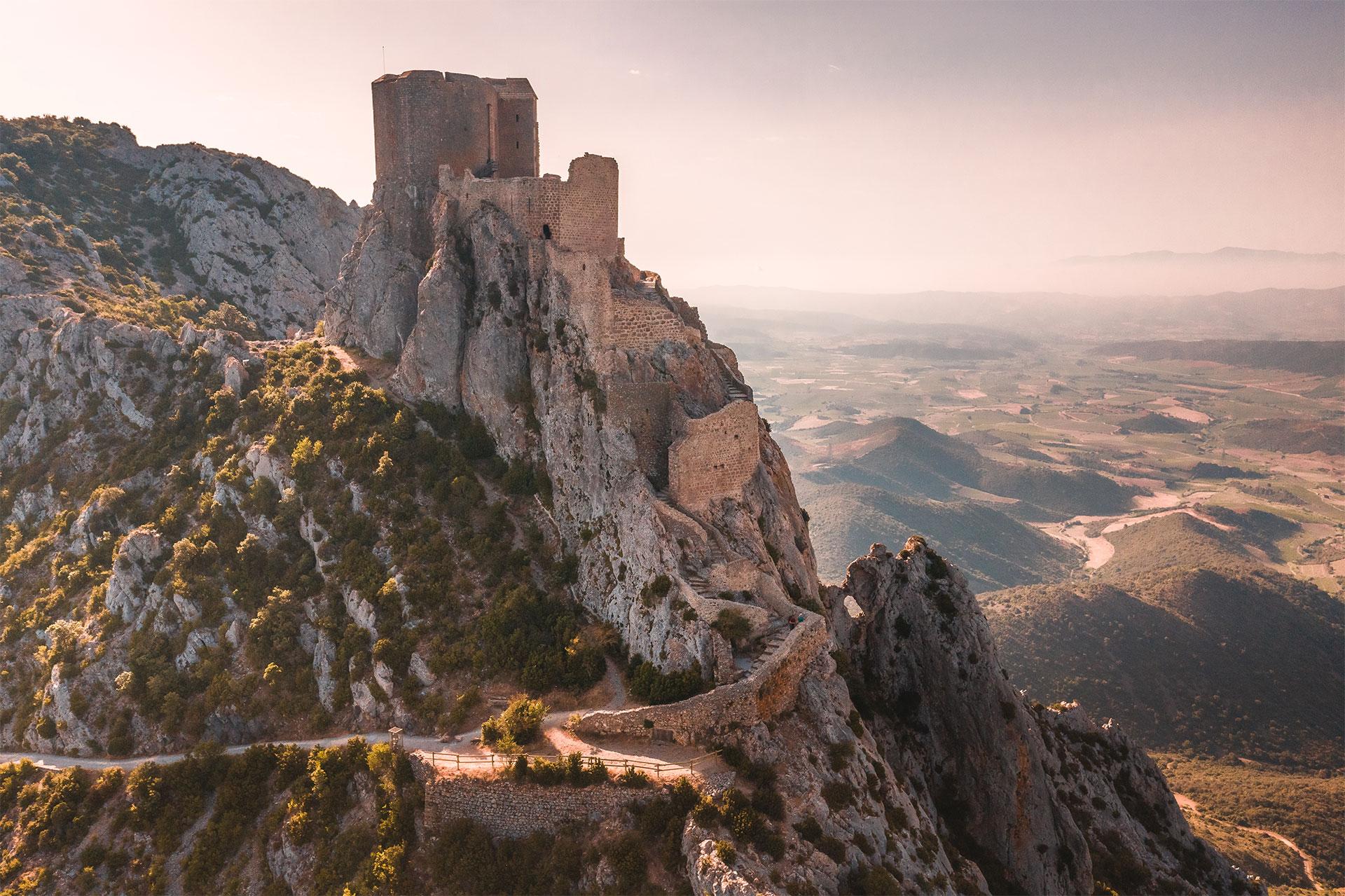 Visite du château de Queribus ©Vincent Photographie - ADT de l'Aude