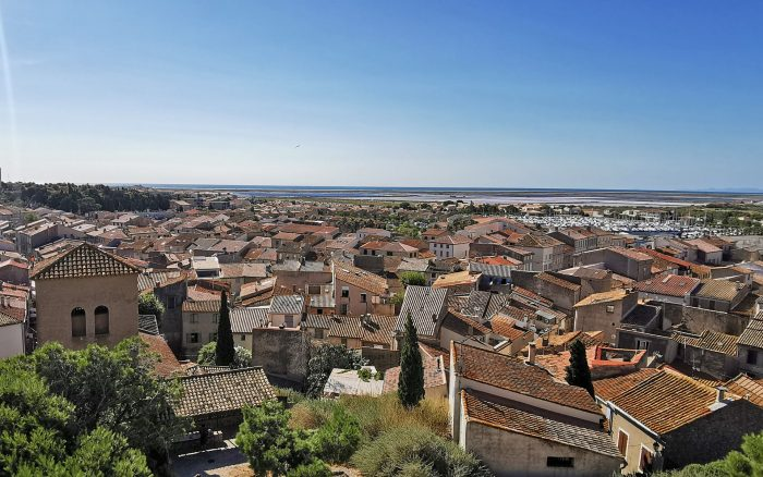 Vue sur le village de Gruissan depuis la tour Barberousse ©Baptiste Larribere - ADT de l'Aude