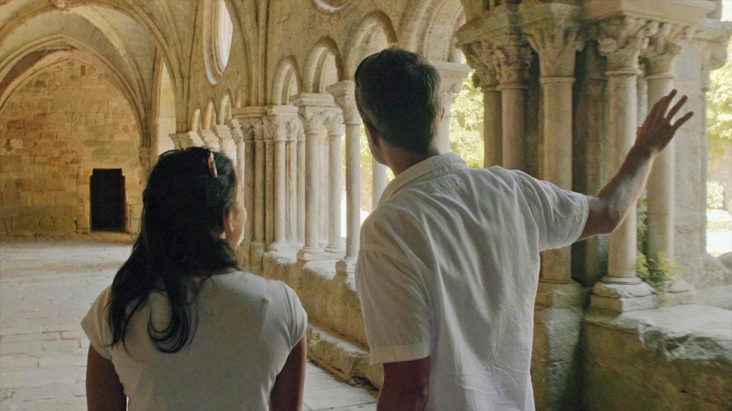 Visite de l'Abbaye de Fontfroide ©Ailium Production - ADT de l'Aude