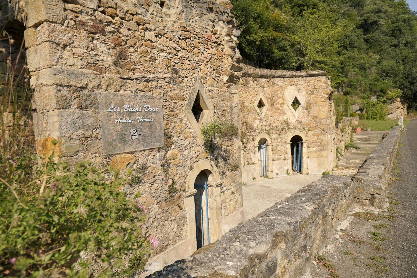 Les thermes romains à Rennes les Bains ©R. Kann, ADT de l'Aude