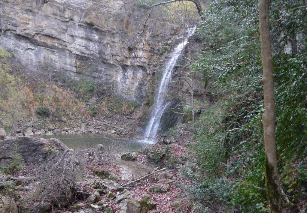 Cascade des Mathieux en montant au Pech Bugarach ©ADT de l'Aude