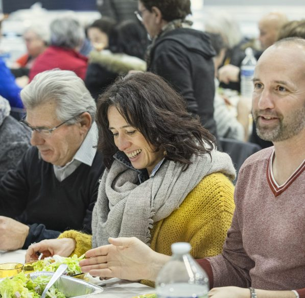 Foire au gras à Belpech, ledéjeuner