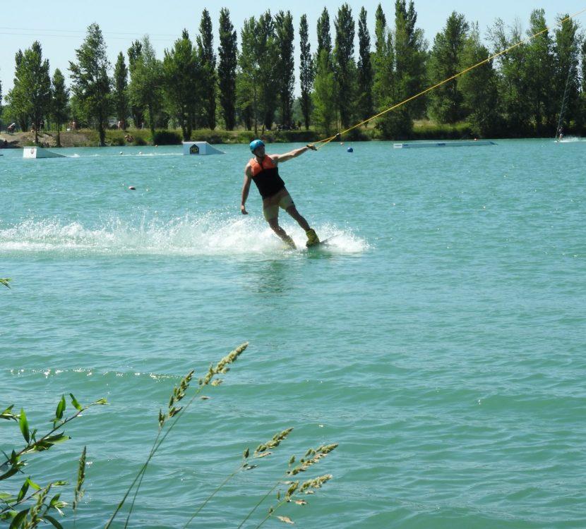 Téléski nautique à Bram, au lac de Buzerens© Dominique Louis, OT Collines cathares