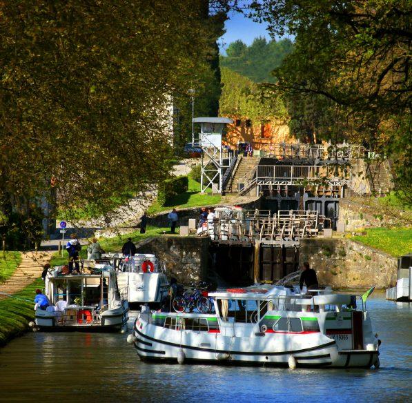 Carcassonne, canal du mid, écluses