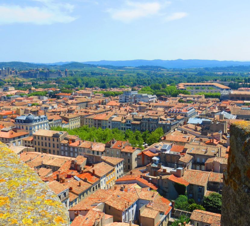 Vue depuis le clocher de l'église Saint Vincent à Carcassonne ©Marc Gassion - ADT de l'Aude