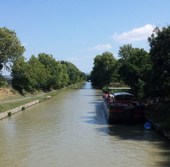 Carcassonne, écluse d'herminis, canal du midi