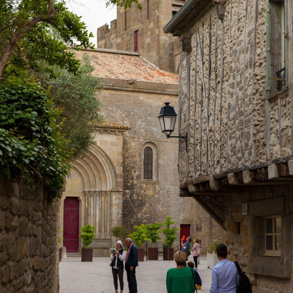Carcassonne, cité, couple