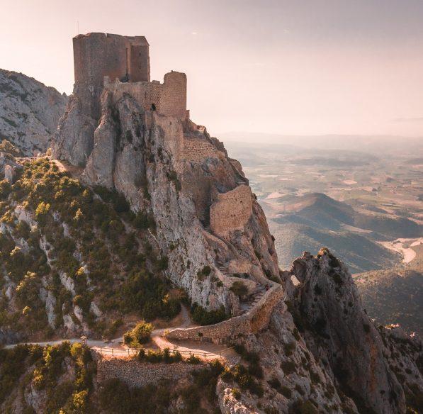 le Sentier Cathare au château de Quéribus