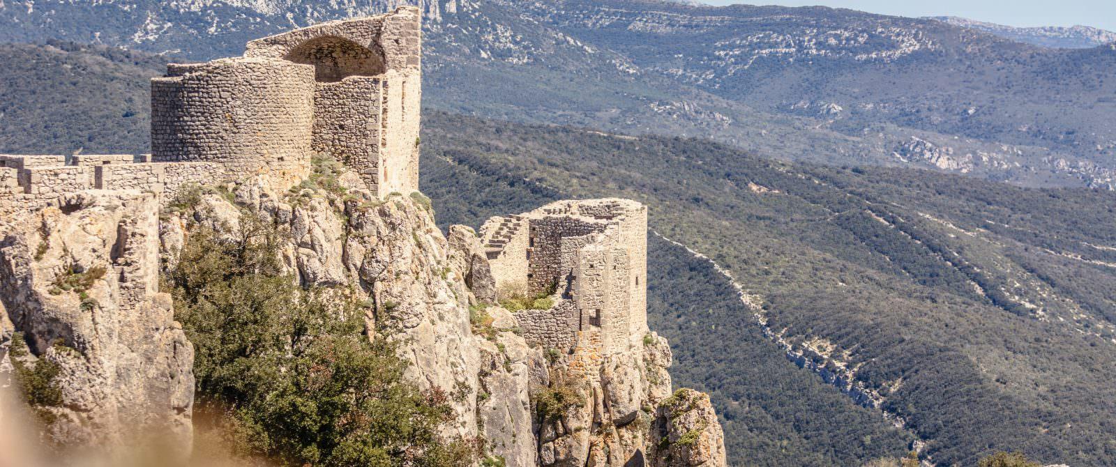 Château Duilhac Peyrepertuse vue generale