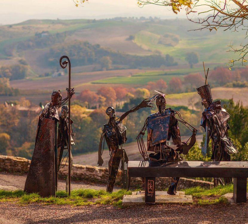 Le parcours sculpturel au village de Fanjeaux ©Vincent Photographie
