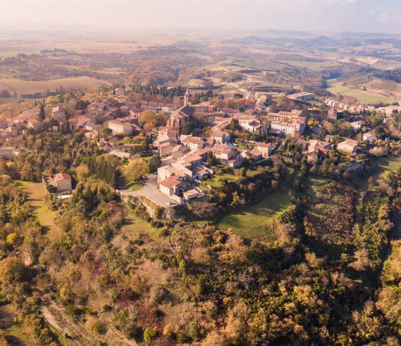 Fanjeaux, vue du village